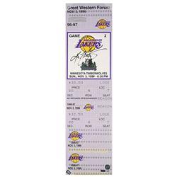 "Kobe Bryant Signed ""1st Game"" 9x33 Limited Edition Oversized Ticket on Canvas (Panini COA)"