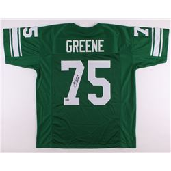"Joe Greene Signed North Texas Mean Green Jersey Inscribed ""HOF 87"" (Radtke COA)"