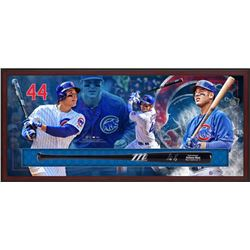Anthony Rizzo Signed Cubs 23.5x49.5x3.25 Custom Framed Marucci Game Model Baseball Bat Shadowbox Dis