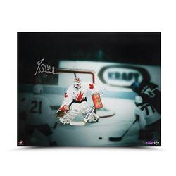 """Grant Fuhr Signed Team Canada """"1987 Canada Cup"""" LE 16x20 Photo (UDA COA)"""