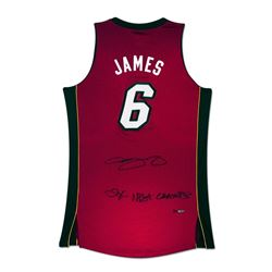 """LeBron James Signed Heat Limited Edition Jersey Inscribed """"2X NBA Champs"""" (UDA COA)"""