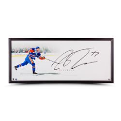 "Connor McDavid Signed Oilers ""The Show"" 20x46 Custom Framed Photo (UDA COA)"