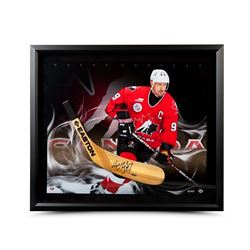 Wayne Gretzky Signed 24x28 Custom Framed Limited Edition Stick Blade (UDA COA)