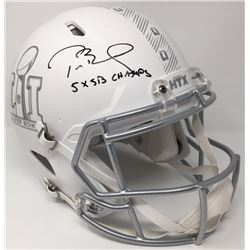 Tom Brady Signed Limited Edition Super Bowl 51 Full-Size Custom Matte White ICE Speed Helmet Inscrib