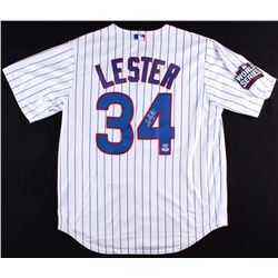 Jon Lester Signed Cubs 2016 World Series Jersey (Schwartz COA  PSA Hologram)
