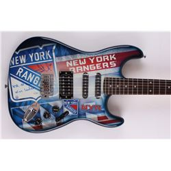 "Henrik Lundqvist Signed LE Rangers Electric Guitar Inscribed ""NYR All Time Wins Leader"" (Steiner COA"