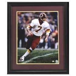 "Joe Theisman Signed Redskins 23x27 Custom Framed Photo Display Inscribed ""SB XVII Champs"" (Radtke CO"