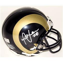 Marshall Faulk Signed Rams Mini-Helmet (Radtke COA)