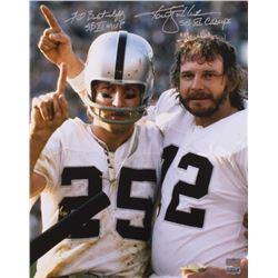 "Ken Stabler  Fred Biletnikoff Signed Raiders 16x20 Photo Inscribed ""SB XI MVP""  ""SB XI Champs"" (Radt"