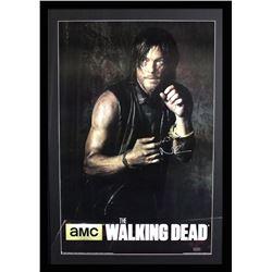 "Norman Reedus Signed ""The Walking Dead"" 29x42 Custom Framed Poster Display (Radtke COA)"