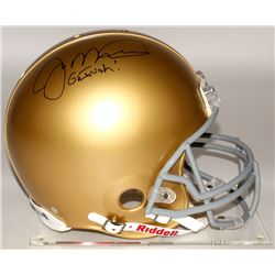 "Joe Montana Signed Notre Dame Fighting Irish Full-Size Authentic On-Field Helmet Inscribed ""Go Irish"