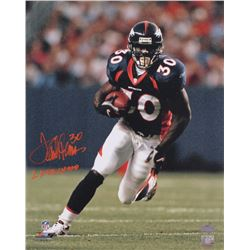 "Terrell Davis Signed Broncos 16x20 Photo Inscribed ""2x SB Champ"" (Radtke COA)"