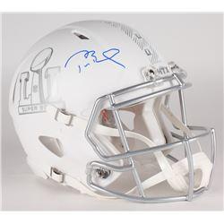Tom Brady Signed LE Super Bowl 51 Custom Matte White ICE Authentic On-Field Speed Helmet (Tristar Ho