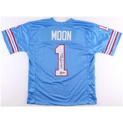 """Warren Moon Signed Oilers Jersey Inscribed """"HOF 06"""" (Radtke COA  Moon Hologram)"""
