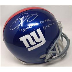 "Odell Beckham Jr Signed Giants Full-Size Helmet Inscribed ""Greatest Catch Ever""  "" 11-23-14"" (Steine"
