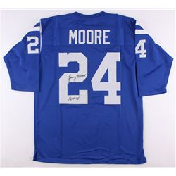 Lenny Moore Signed Colts Jersey Inscribed  HOF 75  (JSA COA)