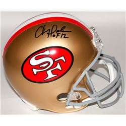 Chris Doleman Signed 49ers Full-Size Helmet Inscribed  HOF 12  (Radtke COA)