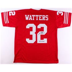 Ricky Watters Signed 49ers Jersey Inscribed  SB Champs  (JSA COA)