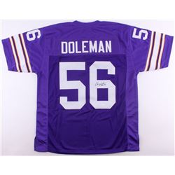 "Chris Doleman Signed Vikings Jersey Inscribed ""HOF 12"" (JSA COA)"