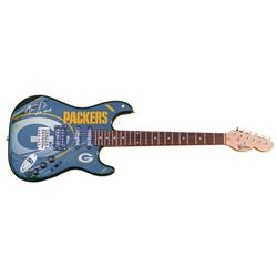 "Aaron Rodgers Signed Packers Electric Guitar Inscribed ""XLV MVP"" (Steiner Hologram)"