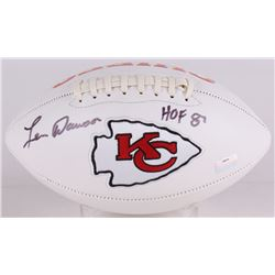 "Len Dawson Signed Chiefs Logo Football Inscribed ""HOF 87"" (Radtke COA)"