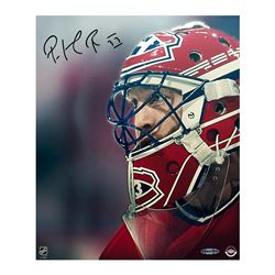"""Patrick Roy Signed Canadiens """"Up Close  Personal"""" 20x24 Photo on Canvas (UDA COA)"""