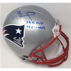 "Tom Brady Signed Limited Edition Patriots Full-Size Authentic On-Field Helmet ""SB 51 MVP""  ""SB 51 Ch"