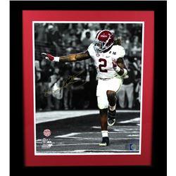 Derrick Henry Signed Alabama Crimson Tide 23x27 Custom Framed Photo Display (Radtke COA  Henry Holog