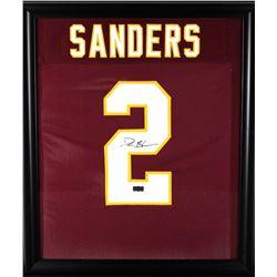 Deion Sanders Signed Florida State Seminoles 23x27 Custom Framed Jersey Display (Radtke COA)