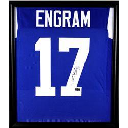Evan Engram Signed Ole Miss Rebels 23x27 Custom Framed Jersey Display (Radtke COA)