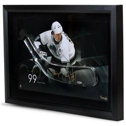 Wayne Gretzky Signed Kings LE 16x24 Custom Framed Hockey Stick Blade Shadowbox Display (UDA COA)