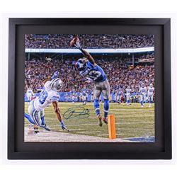 """Odell Beckham Jr. Signed Giants """"The Catch"""" 26x30 LE Custom Framed Photo (Steiner COA)"""