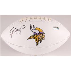 Brett Favre Signed Vikings Logo Football (Radtke COA)