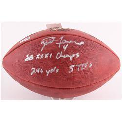 "Brett Favre Signed Super Bowl XXXI Official NFL Game Football Inscribed ""SB XXIX Champs""  ""246 YDS 3"