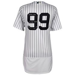 """Aaron Judge Signed Yankees Limited Edition Jersey Inscribed """"2017 AL ROY"""", """".284"""", """"114 RBI's"""", """"52"""