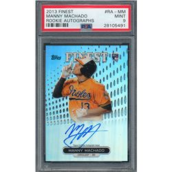 2013 Finest Rookie Autographs Refractors #MM Manny Machado (PSA 9)