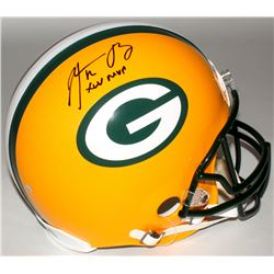 "Aaron Rodgers Signed Packers Full-Size Authentic On-Field Helmet Inscribed ""XLV MVP"" (Steiner Hologr"