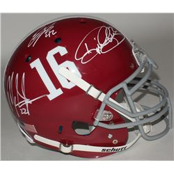 Eddie Lacy, Derrick Henry  Mark Ingram Signed Alabama Full-Size Authentic On-Field Helmet (Lacy, Hen