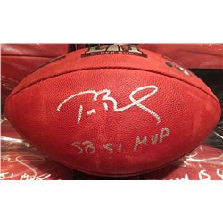 "Tom Brady Signed LE Super Bowl 51 ""The Duke"" NFL Official Game Ball Inscribed ""SB 51 MVP"" (Steiner C"