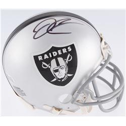 Derek Carr Signed Raiders Mini Helmet (Beckett COA)