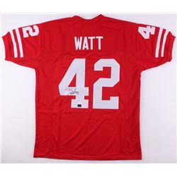 T. J. Watt Signed Wisconsin Badgers Jersey (JSA COA  Watt Hologram)