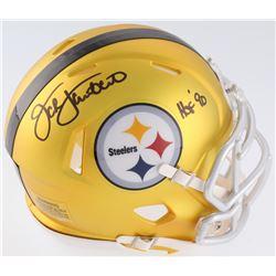 "Jack Lambert Signed Steelers Blaze Mini-Helmet Inscribed ""HOF 90"" (JSA COA)"