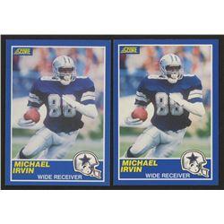 Lot of (2) 1989 Score #18 Michael Irvin RC