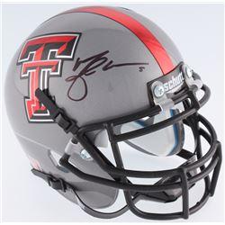 Michael Crabtree Signed Texas Tech Red Raiders Mini-Helmet (JSA COA)