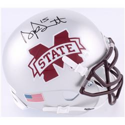 Dak Prescott Signed Mississippi State Bulldogs Mini-Helmet (JSA COA  Prescott Hologram)