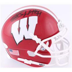 J.J. Watt Signed Wisconsin Badgers Mini-Helmet (JSA COA  Watt Hologram)