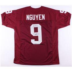 """Dat Nguyen Signed Texas AM Jersey Inscribed """"Gig 'Em"""" (JSA COA)"""