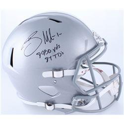 "Braxton Miller Signed Ohio State Buckeyes Full-Size Speed Helmet Inscribed ""8950 Yds""  ""87 TD's"" (Ra"