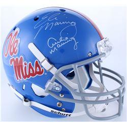 Archie Manning  Eli Manning Signed Ole Miss Full-Size Helmet (Steiner Hologram)
