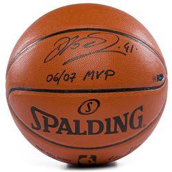 "Dirk Nowitzki Signed LE Game Ball Series Basketball Inscribed ""06/07 MVP"" (Panini COA)"